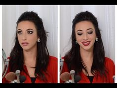 Classic Holiday Makeup | Smoked Out Liner and TWO Lip Options - YouTube