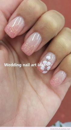 Beautiful spring nail art design ideas 31 nailed it pink nail art, Nail Art Designs, Pretty Nail Designs, Nail Designs Spring, Fingernail Designs, Simple Wedding Nails, Wedding Nails Design, Pretty Nail Colors, Pretty Nails, Nail Design Video