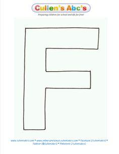 Alphabet letter f template kid crafts pinterest alphabet alphabet letter f template kid crafts pinterest alphabet letters kindergarten and early intervention maxwellsz