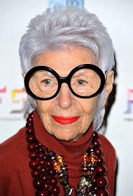 Iris Apfel, 90 year old style icon and inspiration for a new line at MAC cosmetics...I hope I look like her at 90!