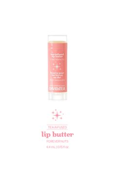 Forever Nuts lip butter | 2 FOR $10 A luscious, all-vegan lip butter infused with our Forever Nuts tea.