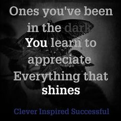 Ones you've been in the dark you #learn to appreciate everything that #shines Get updates and special offers on Instagram http://ift.tt/1W9wMhj Twitter http://twitter.com/Clever_Inspire Like and share our official Facebook page http://ift.tt/21xvvjy #moneyonline #comment #comments #commentbellow #cash #makemoney #makemoneyonline #makemoneyfromhome #makemoneyfast #makemoneynow #easymoney #easycash #getpaid #workfromhome #onlinemoney #workfromhomemom #workfromanywhere #workonline