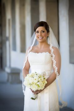 hairstyle for lace edge veil - Google Search