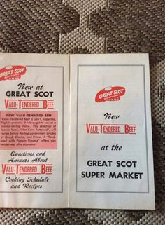 Great Scot, one of the first big super markets in Terre Haute.