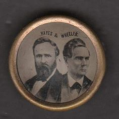 Hayes and Wheeler tintype button