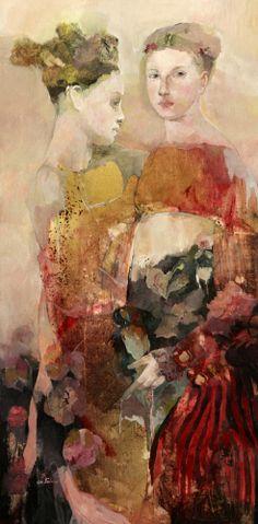 """Vernissage"", oil on canvas, by Francoise de Felice"