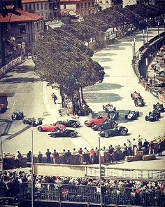 F1 Historic - Start of the 1959 Monaco Grand Prix.
