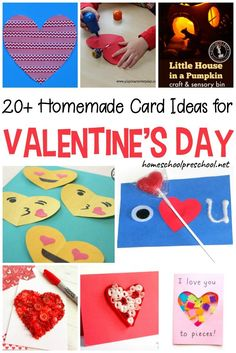 Your crafty kids will love all of these homemade Valentines card ideas! Set up your craft supplies, and let kids show friends and family some love. Homemade Valentine Cards, Valentine Crafts For Kids, Valentines Day Activities, Valentines Diy, Homemade Cards, Printable Valentine, Saint Valentine, Holiday Activities, Learning Activities