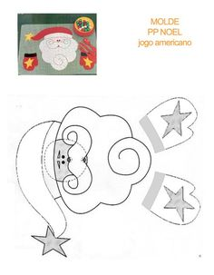 Papa Noel con moldes para manualidades de Navidad