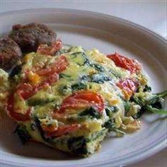 under 100 cal meals: crustless spinach quiche :)