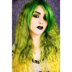 """""""Green Hair, Don't Care. I am currently rocking my Green Fever wig from @geishawigs. Still sick but going stir crazy and I have been wanting to shoot this…"""""""