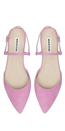 Lorna Flat Point Slingback pink ballerinas SS14 Whistles