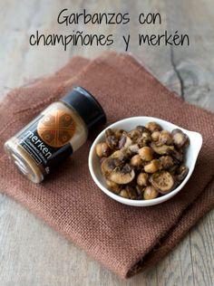 Champiñones con garbanzos al merkén / Mushrooms with chickpeas and merquén | En mi cocina hoy