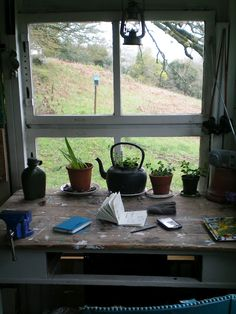 Make our windows into mini gardens. Interior And Exterior, Interior Design, Window View, Window Desk, Through The Window, Humble Abode, Windows And Doors, Sweet Home, Cottage