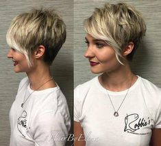 Blonde Pixie Cut with Longer Bangs #shortblondepixie