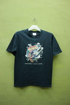 vintage de los años 90 de Universal Studios Japan camisa detrás de la futuro Promo T camisa superior Tee talla S