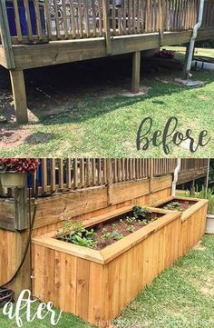 Backyard landscaping with raised garden beds- what a great idea to enclose the underside of a porch! Backyard landscaping with raised garden beds- what a great idea to enclose the underside of a porch! Backyard Projects, Outdoor Projects, Backyard Patio, Backyard Landscaping, Porch Garden, Landscaping Design, Landscaping Software, Nice Backyard, Modern Backyard