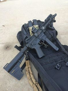 """Exaxtly my idea of """"done right"""" .. 9mm AR pistol with the Shockwave brace"""
