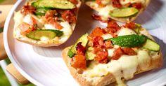 Ciabatta met tomaatjes courgette en mozzarella