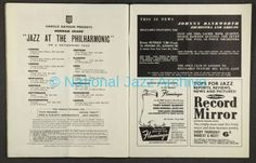 Norman Granz' Jazz at the Philharmonic First British Tour 1958 featured a performance by Ella Fitzgerald at Davis Theatre, Croydon