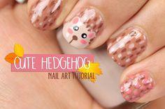 Hedgehog nail art | CREATIVENAILART