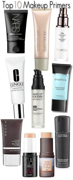 Top 10 MakeupPrimers: The best makeup primers to ensure makeup goes on smooth and lasts all day.