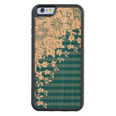 Vintage Lace on Any Color Wood Cherry iPhone 6 Bumper http://www.zazzle.com/vintage_lace_on_any_color_wood_carvedcase-256423718884796408?rf=238312613581490875