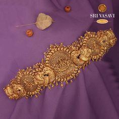 Rakshogni pavone Oddiyanam Diamond Jewelry, Gold Jewelry, Jewellery, Vaddanam Designs, Goddess Lakshmi, Gold Price, Sculpting, Jewels, Detail