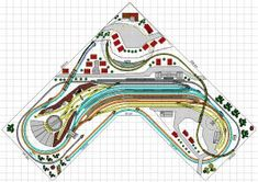 N Scale Model Trains, Model Train Layouts, Scale Models, Model Railway Track Plans, Planer, Toy Trains, Diy, Dog Bones, Scale Model Cars
