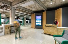Offices of creative technology consultants ThoughtWorks, located in San Francisco, California.