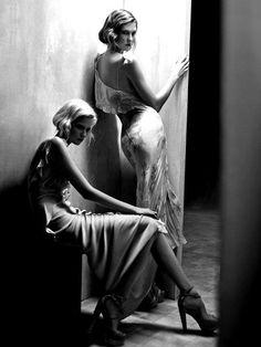Ad Campaign: Donna Karan Season: Spring/Summer 2011 Models: Abbey Lee Kershaw & Karlie Kloss Photographer: Patrick Demarchelier