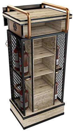 MOBILIARIO DEWARS PDV Tiny House Furniture, Steel Furniture, Bar Furniture, Industrial Furniture, Modular Furniture, Furniture Design, Pos Display, Store Displays, Display Design