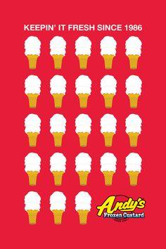 Andy's Frozen Custard Concepts by Josh Thomassen, via Behance