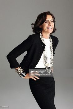 Foto di attualità : Model Ines de la Fressange is photographed for...