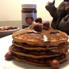 Chocolate Hazlenut Protein Pancakes