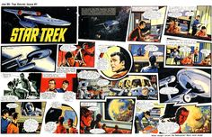 Episode 1 of the first Star Trek story published in Joe 90 comic. Art by Harry Lindfield who later drew Doctor Who for Countdown.