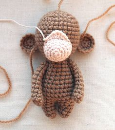 Amigurumi crochet monkey pattern - assembly