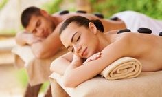Groupon - 60- or 90-Minute Couples Swedish Massage with Champagne at Spa Sereno at Caliente Resort (Up to 62% Off) in Spa Sereno at Caliente Resort. Groupon deal price: $89