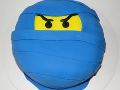 Ninja Birthday Cake....but maybe with black and not yellow lego.