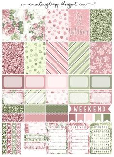 Counting Sheepy: Free Planner Printables - Valentine's Day
