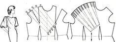 выкройка платья с драпировкой на плечах - Поиск в Google