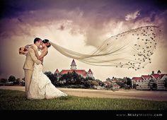 #Disney Wedding, Fairytale Wedding, Misty Miotto, Photography, Veil, Photos, Bride,Groom, Beautiful, Gorgeous, Stunning,