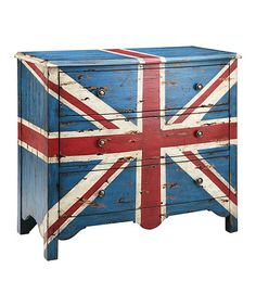 Take a look at this British Flag Accent Chest by JLA Home on #zulily today!