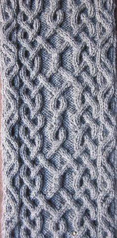 Devorgilla's Knitting (sometimes...)  |  Puzzle Scarf III/17 - main pattern (€1.50).