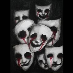 Listen closely. #joykristinschwarz #schwarzrum #workinprogress #wip #pencil #art #draw #drawing #sketch #illustration #surreal #surrealistic #surrealism #surrealist #dark #aquarelle #watercolour #watercolor #instaart #instaartist #painting #horror #macabre #darkart #portraiture #mask #masks