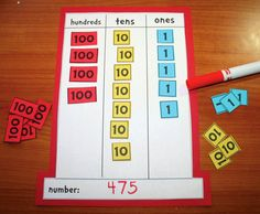 Classroom Freebies: Cat in the Hat Place Value Mat