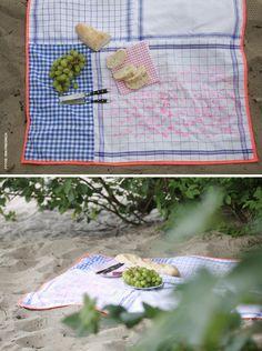 Superschnelle DIY-Picknickdecke - CUT