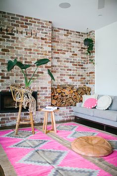 Pampa rugs & cushions from Argentina. Photo: Amelia Fullarton