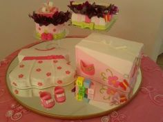 Baby Shower cake by Dulce Galeria