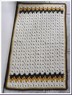 Tapete Barbante Colorido em Crochê
